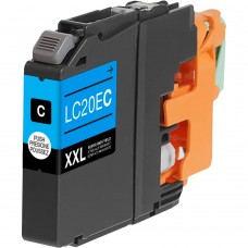 BROTHER LC20EC XXL COMPATIBLE INKJET CYAN CARTRIDGE EXTRA HIGH YIELD