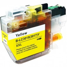 BROTHER LC3017Y/LC3019Y XXL COMPATIBLE INKJET YELLOW CARTRIDGE