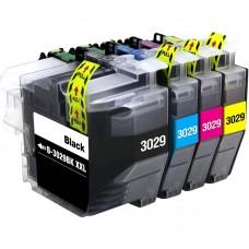 COMBO BROTHER LC3029 BK/C/M/Y XXL COMPATIBLE INKJET BLACK/C/M/Y CARTRIDGE
