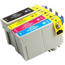 COMBO EPSON T127 BK/C/M/Y XL COMPATIBLE INKJET BLACK/C/M/Y CARTRIDGE