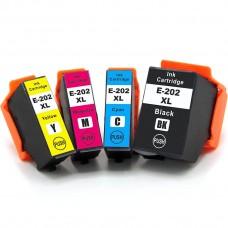 COMBO EPSON T202 BK/C/M/Y XL COMPATIBLE INKJET BLACK/C/M/Y CARTRIDGE