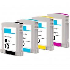 COMBO HP10 BK/C/M/Y XL COMPATIBLE INKJET BLACK/C/M/Y CARTRIDGE