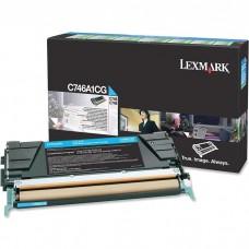 LEXMARK C746A1CG LASER ORIGINAL CYAN TONER CARTRIDGE