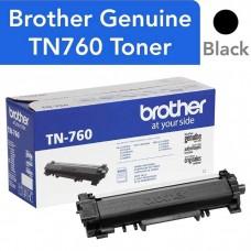 BROTHER TN760 LASER ORIGINAL BLACK TONER CARTRIDGE