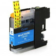 BROTHER LC101C/LC103C XL COMPATIBLE INKJET CYAN CARTRIDGE