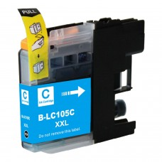 BROTHER LC105C XXL COMPATIBLE INKJET CYAN CARTRIDGE